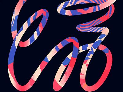 Loopsssss duotone patterns infinite abstract loop