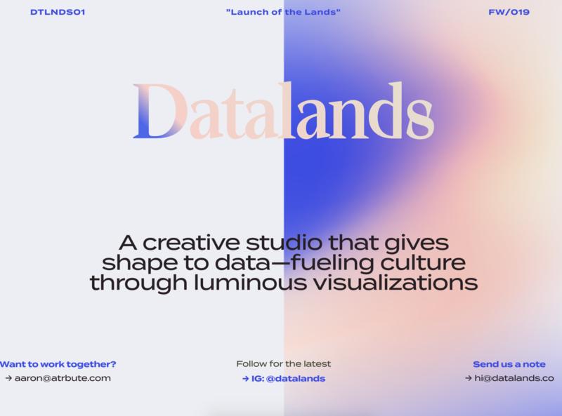 Datalands Site information illustration art data data viz dataviz infographic creative design datalands