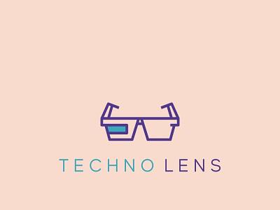 Techno Lens Logo app icon logo vector simple branding professional minimal illustration design