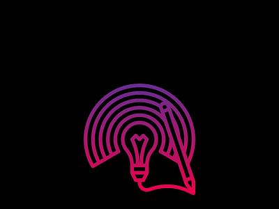 Gradient Idea logo design graphic design gradient icon logo colorful vector simple branding professional minimal illustration design
