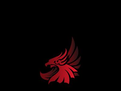 Hunting Eagle unique design creative logo logo design redesign concept red colorful logo vector simple branding professional minimal illustration design