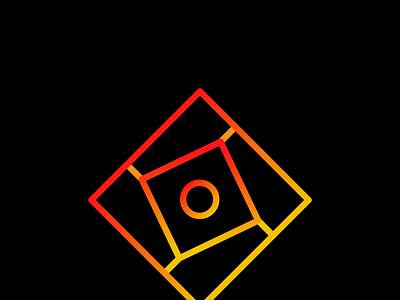 Squre Sharingan logo design creative logo unique logo gradient logo vector simple professional minimal illustration design
