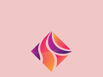 Colorful Minimal unique logo creative logo colorful logo branding vector simple professional minimal illustration design