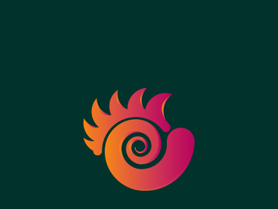 Gradient Chicken unique logo creative logo icon logo branding vector simple professional minimal illustration design