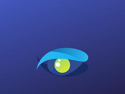 Gradient Eye gradient logo creative logo unique logo icon logo branding vector simple professional minimal illustration design