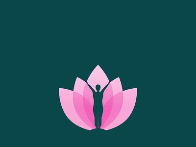 Healthy Flower fitness healthy gradient logo unique logo creative logo branding vector simple professional minimal illustration design