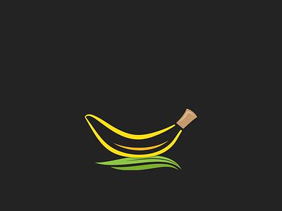 Minimal Banana cool logo branding colorful unique logo creative logo simple vector professional minimal illustration design