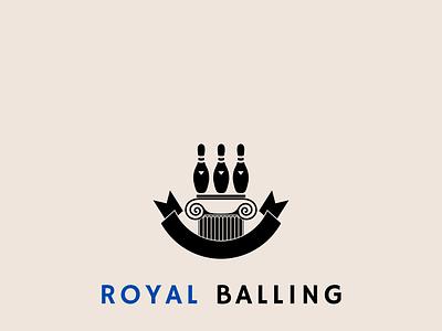 Royal Balling logo design branding balling royal logo unique logo creative logo vector design professional minimal illustration
