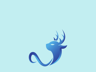 Gradient Deer vector icon gradient logo unique logo professional creative logo minimal illustration