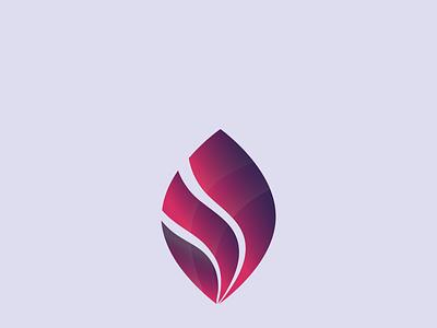 Gradient Leaf gradient logo logo design icon vector unique logo creative logo branding professional minimal illustration