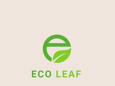 Eco Leaf logo design unique logo typography creative logo branding professional minimal illustration