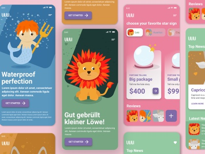MOBILE UI KIT uiux product design ios ui kit mobile web ui kit ui design illustration horoscope component ui