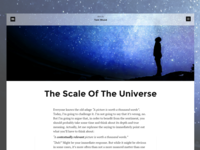 Article view with header image