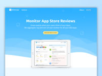 App Store Monitoring - ReviewLoupe Wavy Front