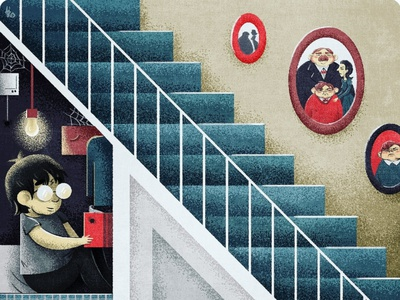 Cupboard cupboard illustraion harry potter harrypotter wizard magic illustration