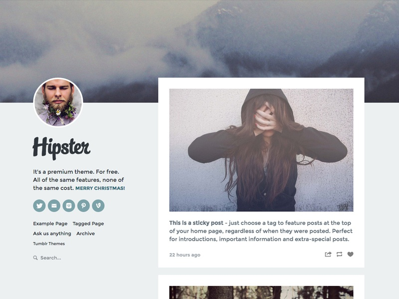 tumblr theme We create amazing portfolio themes that help you showcase your work beautifully designed, powerful features, easy to set up, and great support.