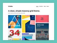 Griddle WordPress Portfolio Theme