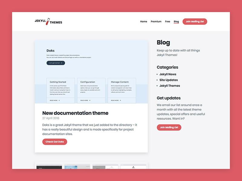 Jekyll Themes – Blog web design website static portfolio blog themes jekyllrb jekyll