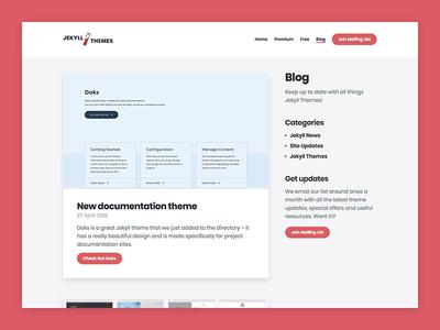 Jekyll Themes – Blog