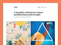 Duet – portfolio Jekyll theme