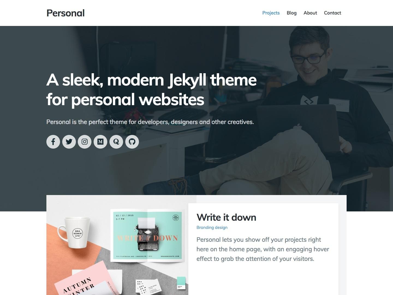 Personal jekyll theme