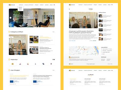 EDULAB edulab ux yellow education web design ui