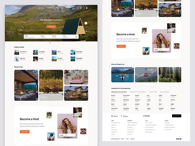 Getaway airbnb travel webdesign web ux ui