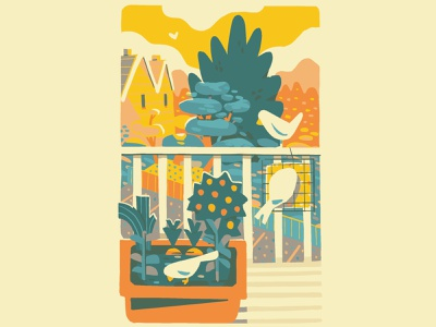 View from the fire escape illustration