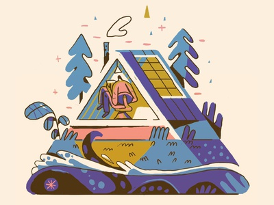 triangle studio illustration