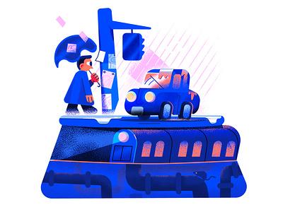 Layered City illustration