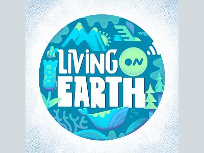 Living on Earth texture illustration