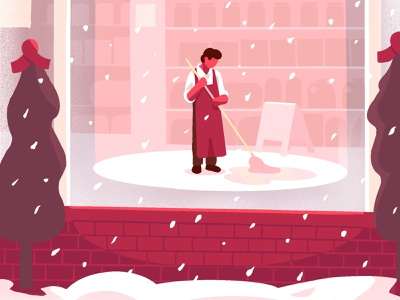 holiday sweep illustration
