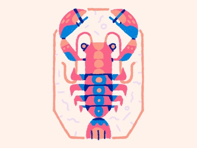Fresh Catch texture illustration branding