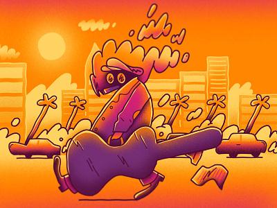 Smokey Stroll texture illustration