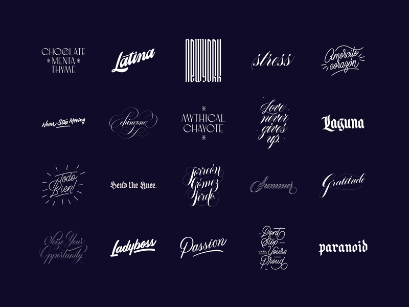 Lettering Collection handlettering script custom type type typography lettering