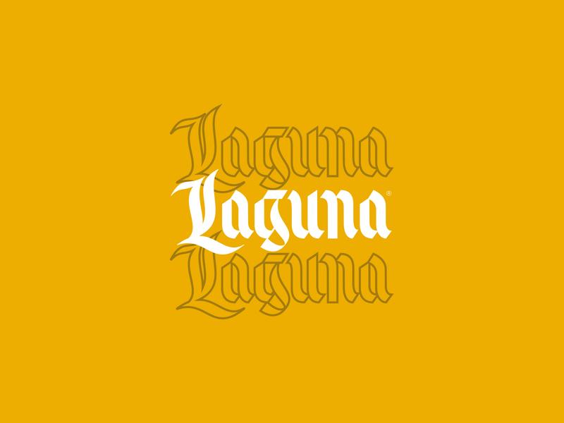 Laguna Wordmark logo design logotype wordmark logo wordmark blackletter branding brand logo design vector custom type typography type lettering
