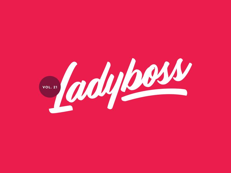 Ladyboss design handlettering vector script logo custom type typography type lettering