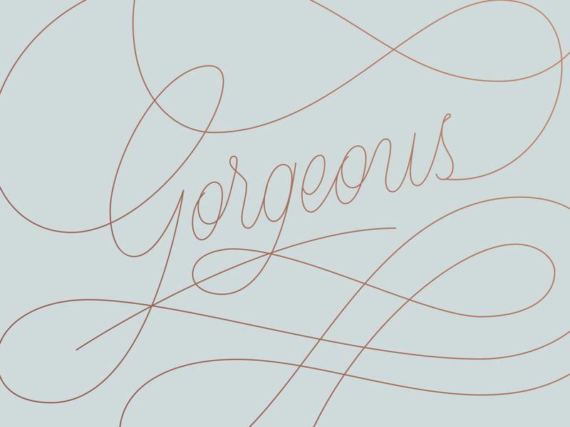 Gorgeous monoline fashion handlettering script vector custom type typography type lettering