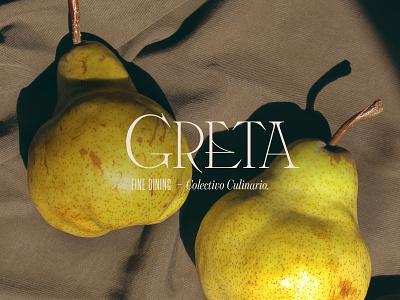 Greta – Custom Wordmark custom type logo design serif restaurant wordmark logodesign logotype restaurant logo brand branding logo typography type lettering