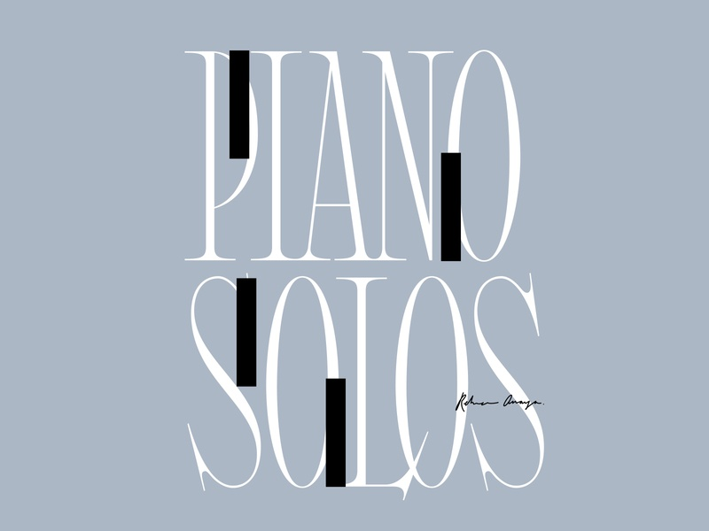 Piano Solos brand logo experimental typography serif serif font handlettering typography custom type cover design musician music piano type lettering