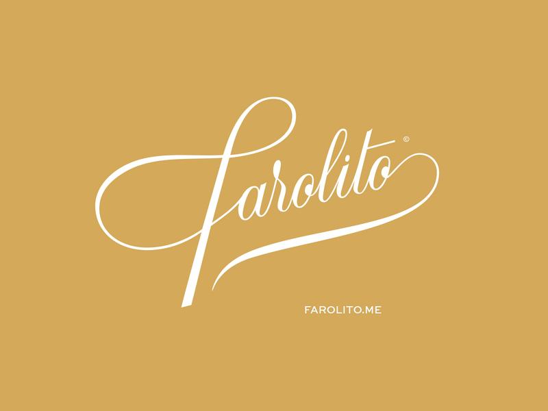 Farolito magazine logotype blog brand logo script vector custom type typography type lettering
