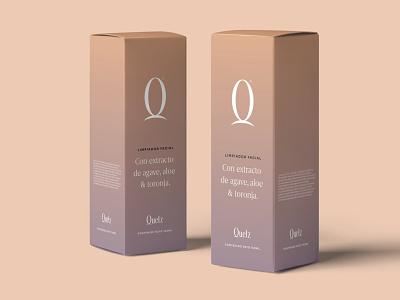 Quetz – Packaging. box logotype branding custom type typography type lettering logo skincare beauty cosmetic