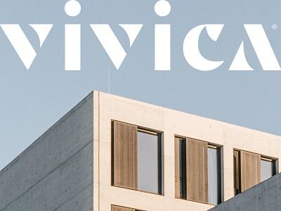 Vivica Wordmark brand branding building construction arquitecture house wordmark logotype design logo vector custom type typography type lettering