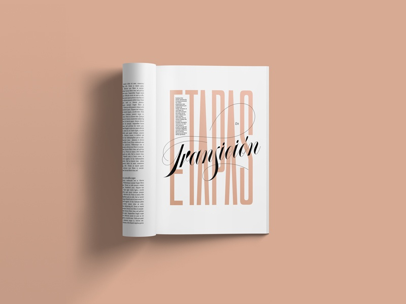 Editorial Lettering II handlettering type script typography magazine design fashion title design custom font editorial lettering editorial art lettering