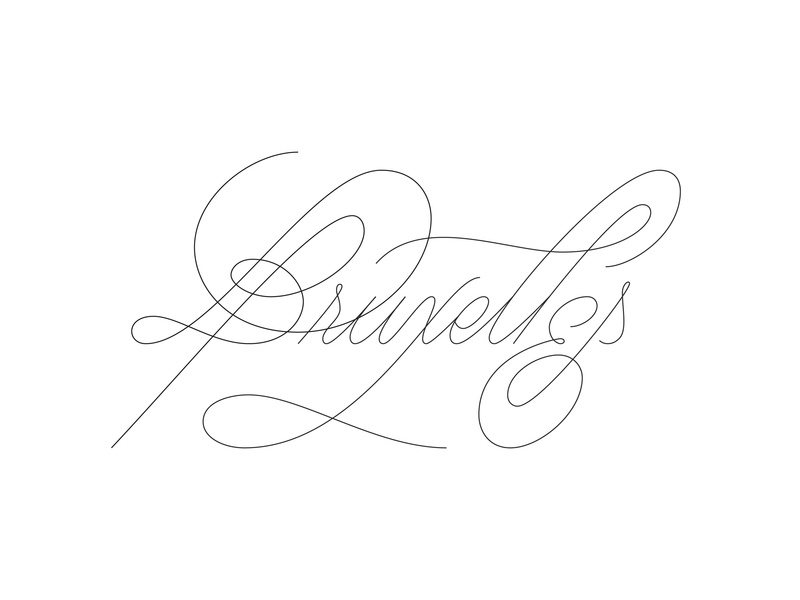 Bruxelles. handlettering work in progress editorial art tour tourist title vector custom type script typography type lettering