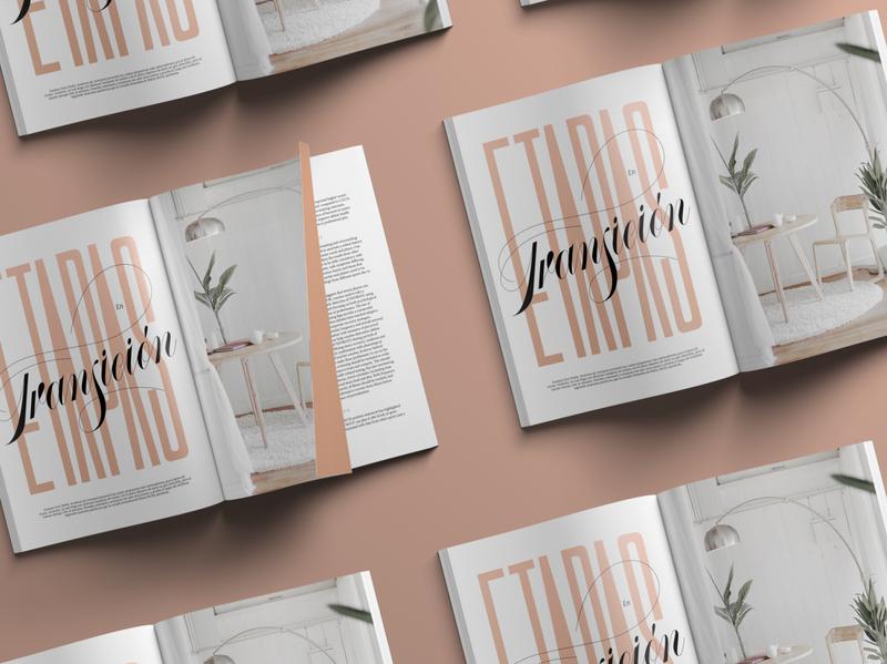 Editorial Lettering - Etapas en Transición magazine design typography type design script custom type lettering print design print magazine