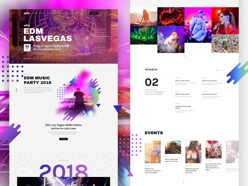Free Download – EDM Party – Landing Page For Music Event by Beau