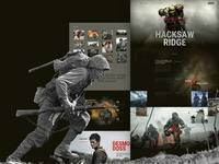 Free Design Landing Page For War Film