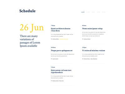 Schedule Conference Event - Timeline multi-day chart typography trendy schedule exhibition infographic event conference company timeline report business
