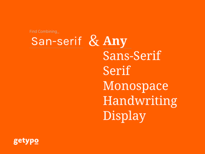 Getypo - Tool Find Combining Font for Designer find font trendy mixing font fonts combinations google font free font guides  resources web font typo